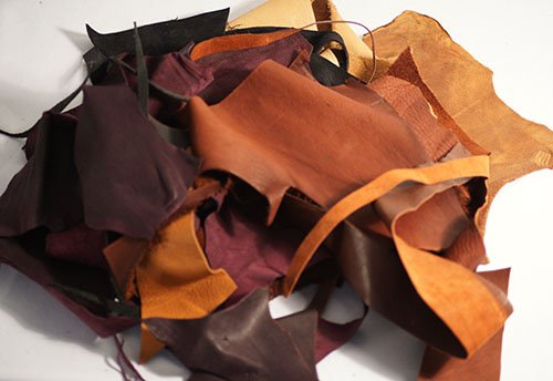 MULTI COLOURED LEATHER OFF CUTS Perfect for any Craft or Scrapbooking Project 250g Pack