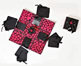 #10: Crafted with Passion Pink and Black Explosion Box for Birthday,Explosion Box for Anniversary Love DIY Photo Album