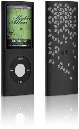 DLO 63031 Silikonhülle mit Grafikmuster (Geometrisch) für Apple iPod Nano 4. Gen schwarz 4. Gen Ipod Nano