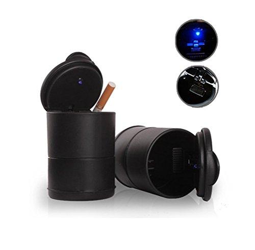 DaoRier KFZ Auto Aschenbecher für Getränkehalter Universal PKW mit LED Lampe