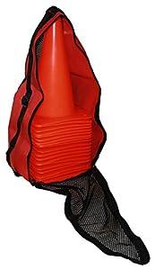 agility sport pour chiens - lot de 20 plots de délimitation 30 cm, couleur: orange, contient également: un sac pratique - 20x MK30o