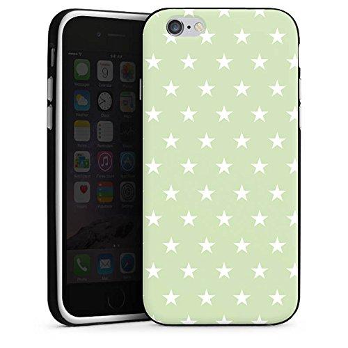 Apple iPhone X Silikon Hülle Case Schutzhülle Sternchen Muster Polka Silikon Case schwarz / weiß