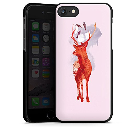 Apple iPhone X Silikon Hülle Case Schutzhülle Hirsch Art Rot Hard Case schwarz