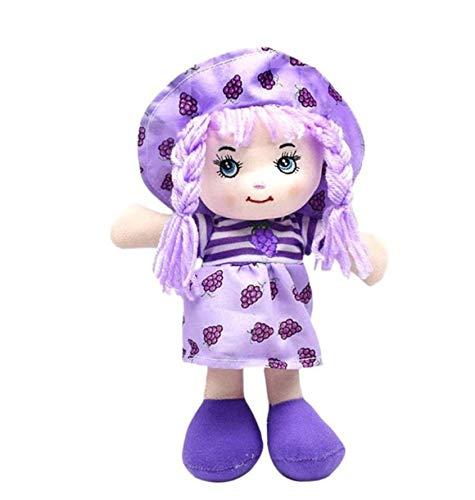 Artoon Kawaii Obst Rock Hut Rag Puppe Weiche Süße Baby Tuch Spielzeug Kinder Geburtstagsgeschenke für Für Baby Mädchen Vorgeben Spielen 25Cm Traube Lila (Lila Trauben Kind Kostüm)