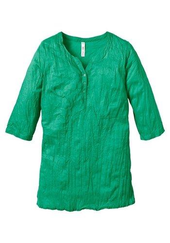 SHEEGO Damen Bluse Longbluse Tunika crash grün Grün