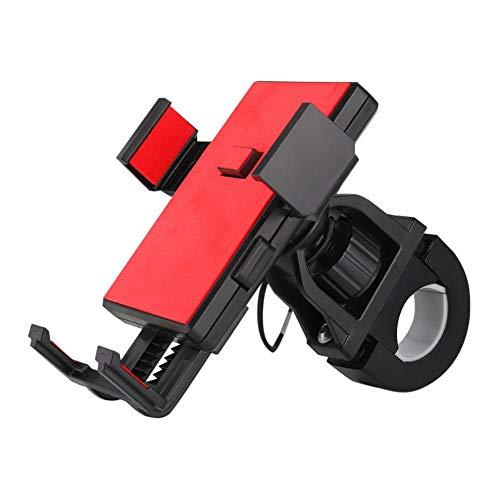 funnyfeng Fahrrad Handyhalter aus Gute Qualität ABS Kunststoff Universal Motorrad Handy Halterung für 3,5-6,5 Zoll Smartphone mit 360° Drehbar und Silikon Aufprallschutz Aufkleber Amiable Jack Box 6 Position