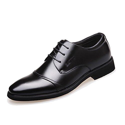Yra Sommer Männer Business Anzug Business Schuhe Leder Schwarz Atmungsaktive Spitze Casual Tipp Herrenschuhe Outdoor Wanderschuhe,A-EU:42/UK:8