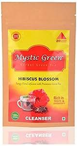 Mystic Green Hibiscus Blossom Green Tea, 20 Pyramid Tea Bags