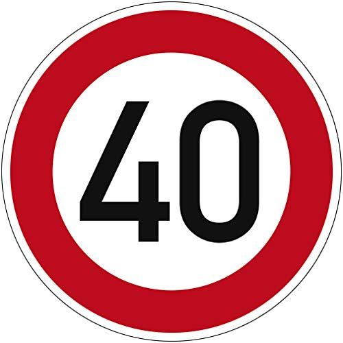 Señal tráfico Velocidad máxima admisible 40 n.º