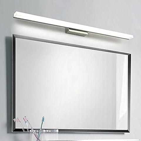 Miroir Anti-Brouillard Anti-Brouillard À LED Simple À La Lumière Avant Lampe De Table Pour La Salle De Bains/Chambre/Hôtel/Miroir Vanity,80cm-16W-blanc