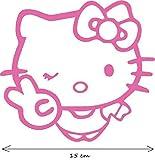 Hello Kitty Zwinkern Victory Auto AUFKLEBER Sticker 15 cm breit