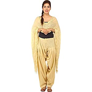 Jaipur Fashion Hub Combo Of Women's Cotton Patiala and Dupptta
