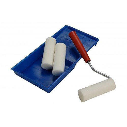 Outils de Mover rapides, bac à peinture, poignée de rouleau et 3 x Rouleaux