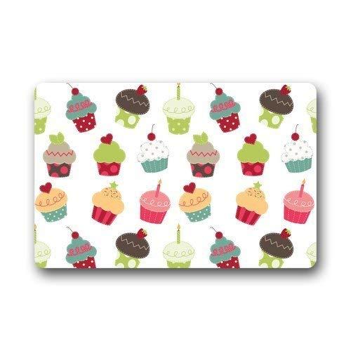 Yang Meme Custom Machine-Washable Door Mat Little Delicious Cupcakes Seamless Pattern Indoor/Outdoor Decor Rug Fußabtreter (Wie Groß Sind Die Glühwürmchen)