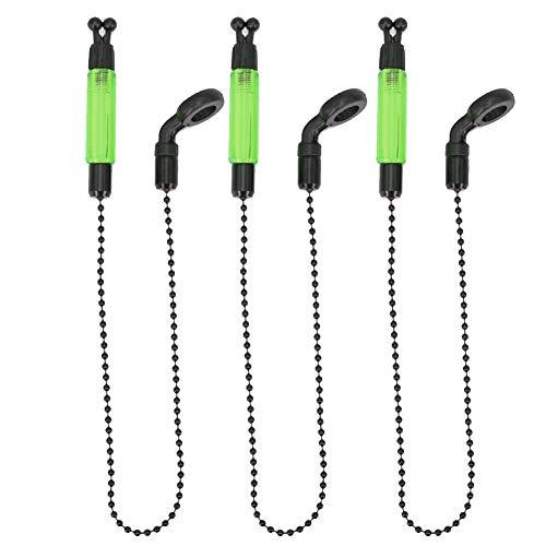 SYN Bissanzeiger 3 Stück Swinger Tackle Karpfen Licht beleuchtet Angeln Alarme Zubehör Alarm Tragbar Praktische Outdoor Spulen Aufhänger