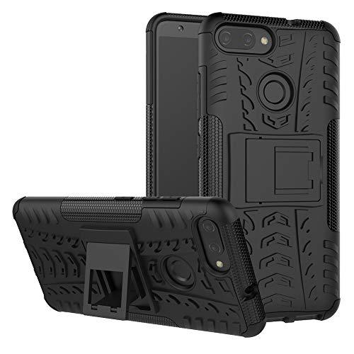 LFDZ Zenfone Max Plus Tasche, Hülle Abdeckung Cover schutzhülle Tough Strong Rugged Shock Proof Heavy Duty Case Für Asus Zenfone Max Plus (M1) ZB570TL Smartphone (mit 4in1 Geschenk verpackt),Schwarz