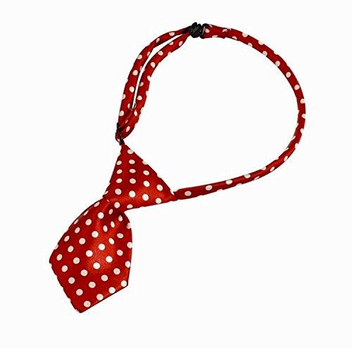OHA-PET Hundekrawatte Minnie-Design ROT mit WEISSEN Pünktchen Fliege – Halsschmuck – Halsband* - 2