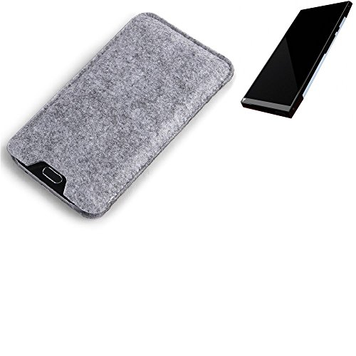 K-S-Trade Filz Schutz Hülle für Turing Robotic Industries Turing Phone Schutzhülle Filztasche Filz Tasche Case Sleeve Handyhülle Filzhülle grau