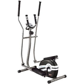 - Elíptica de fitness ( magnético, ritmo cardiaco, bajo impacto ), color gris