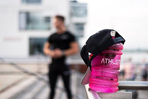 Water Jug - Sport Trinkflasche - Waterjug - Wasserflasche - Gym Bottle - Trainingsflasche - Water Bottle - Fitness Bottle - Wasser Kanister 2.2 Liter - Trinkflasche - ATHLETIC AESTHETICS - Schwarz - 5
