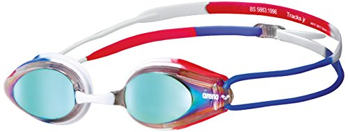 arena Tracks Jr Mirror Goggles Juniors Gold-Blue-red 2019 Schwimmbrille