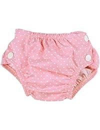 Bañador para bebé–badewindel Color Rosa Con Lunares schadstofffrei