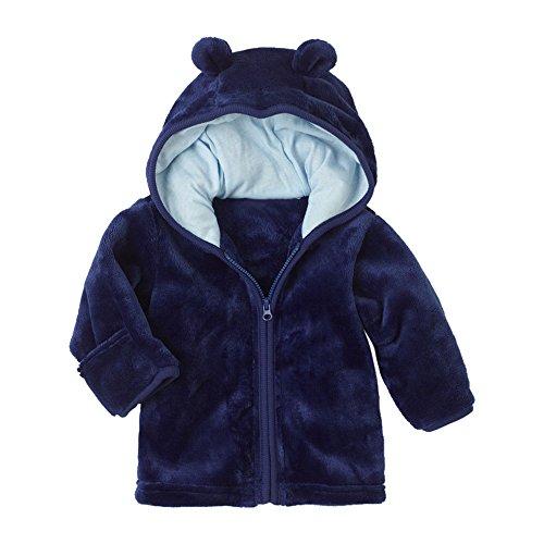 Feixiang cappotto neonato giacca in pile giacche zipper felpe con cappuccio cappotti bambina bambino capispalla in velluto giubbotto invernali caldi spessi per bambini 6-24