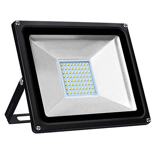 Viugreum Focos LED Exterior 50W, Floodlight Led 5000LM 3200KBlanco Cálido, Iluminación interior...