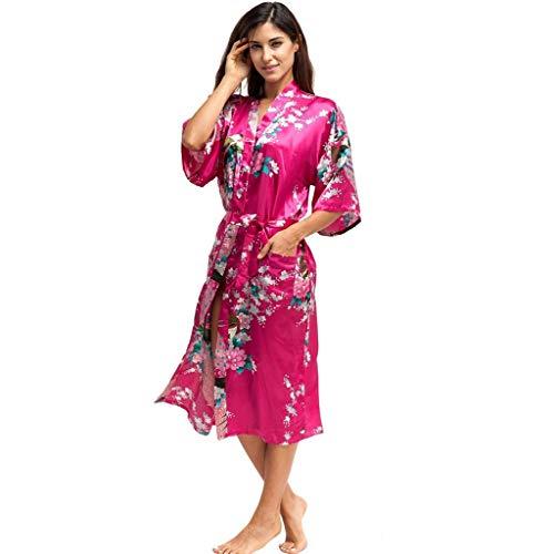 Paon Kimonos femme Peignoirs de bain Imprimé bandage cybèle petticoat bollywood doublure sari glamour Fonds de robe femme robe combinaison lingerie sexy fond femmes dentelle nuit avec bretelles taille