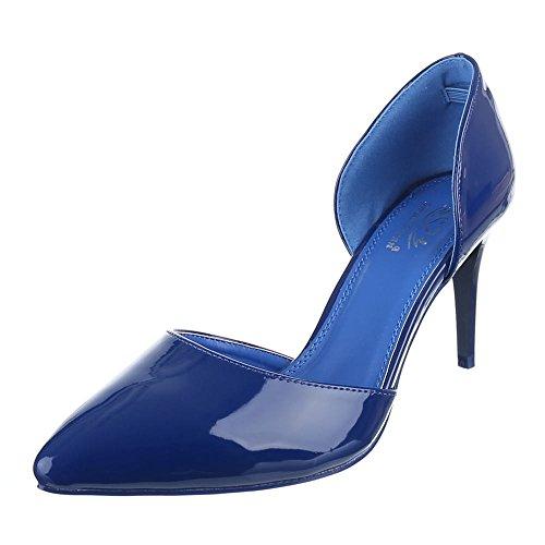 Ital-Design , Escarpins femme Bleu - Bleu