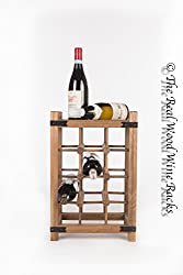 New Real Wooden Rustic Wine Rack/Cabinet, 12 Bottles with Table Top Vertical, Kitchen/Bar