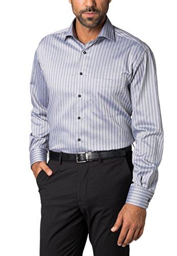 ETERNA long sleeve Shirt COMFORT FIT Natté striped Grigio