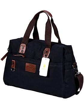 [Gesponsert]VIDENG POLO Herren Messenger Bag Jahrgang Canvas Duffel Tasche Schultertasche Sporttasche Reise Handtasche,4 Größe