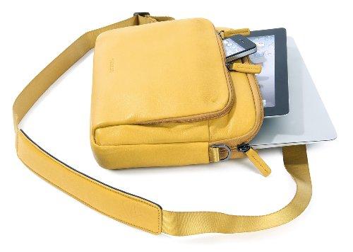 Tucano One Premium Sleeve borsa in vera pelle per MacBook Air 11 Giallo