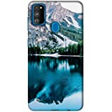 Amazon Brand - Solimo Designer Lake Mountain 3D Printed Hard Back Case Mobile Cover for Samsung Galaxy M30s