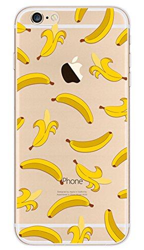 Caso iPhone 6S, ANGTUO copertura di iPhone 6/6S (4,7 pollici)-Frutta Banana modello ultra sottile flessibile (Banana Pelle)