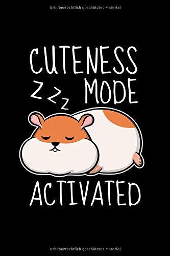 Sketchbook Cuteness Mode Activated: 109 Seiten A5 - Gerahmte Seiten - Skizzenbuch - Zeichenbuch - Tolles Geschenk für Kinder und Freunde - Schlafender Süßer Hamster -