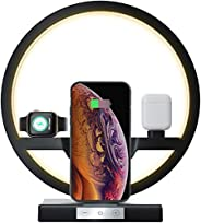 Multifunction Lamp With Adjustable Light And Wireless Charger, 3 in 1 Charger