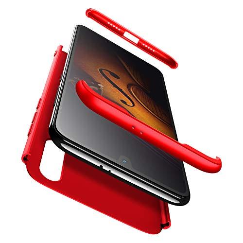 AChris XiaoMi Mi 9 SE Funda 360 Grados Integral PC Hard Carcasa Case Cover con Protector de Pantalla de Vidrio Templado Ultra-Delgado Antichoque Antideslizante Moda Funda- Negro