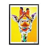QSNBH Aquarell Wandaufkleber Giraffe Kunstdrucke Und Poster Malerei Leinwandbilder Für Wohnzimmer Tier Kinder Home Decor-40X50 cm
