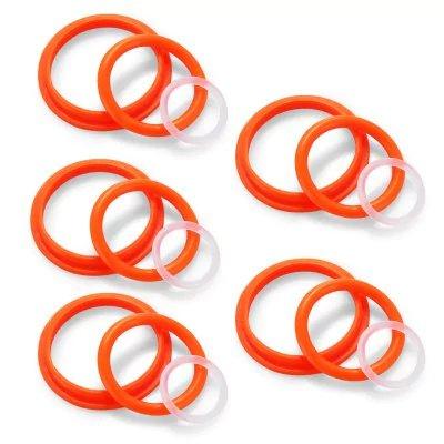 ruiyitech Anillo de silicona anillo de sellado de repuesto para tfv8bebé 5Kit tfv8atomizador de bebé sellos tfv8bebé o anillos sello juntas de silicona–rojo con blanco