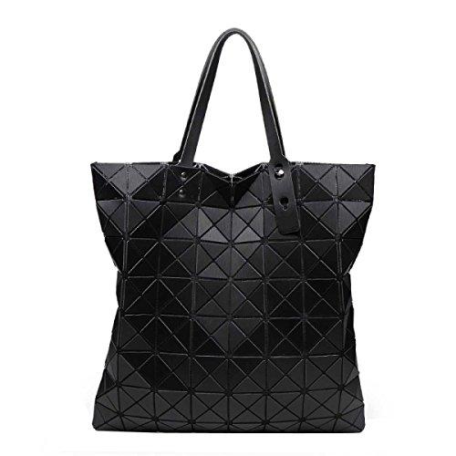 Damenmode Geometrische Umhängetasche Einfache Hand Falttasche Black