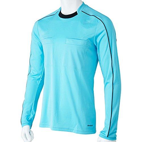 adidas Erwachsene Trikot Referee 16 Jersey Long Sleeve, glow blue/black, XL, AJ5919 (Erwachsenen-trikots)