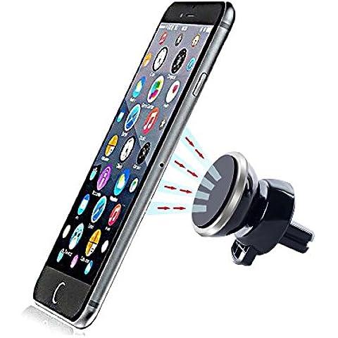 Soporte para teléfono balabuy Magic Air Vent magnética soporte universal de coche, con placa de metal Dos Platos de metal, adhesivas integrada de 360grados para iPhone, Samsung, y todos los otros Smartphones