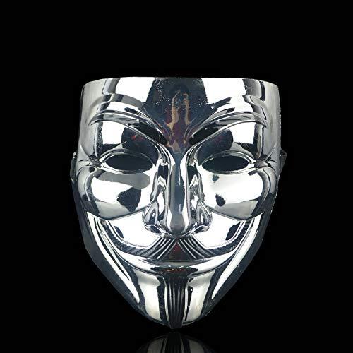 Guy Schwarz Kostüm - 1 STÜCKE 8 Stil Party Masken V Wie Vendetta Maske Anonym Guy Fawkes Phantasie Kostümzubehör Party Cosplay Halloween Masken,8