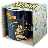 Retro Batman Comic Tasse Geschenktasse (The Dark Knight) verpackt in einer Geschenkbox