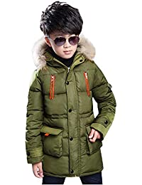 JiaMeng Chaqueta de Manga Larga con Capucha Keep Warm Wadded Jacket Enbihouse Kids Chubasquero Chaqueta Impermeable para niños