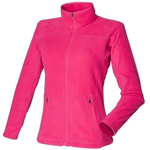 Skinni Fit Ladies/Womens Lightweight Anti Pill Microfleece Jacket (S) (Fuchsia)