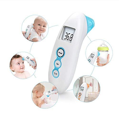 ZUZU Baby-Thermometer, klinischer Test-Infrarotstirn- und Ohr-Thermometer, genaues digitales Thermometer, verwendbar für Kinder und Kleinkinder