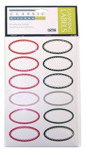 CHEVALIER DIFFUSION - Etiquettes à Confiture ovales 24 rouges 24 noires*